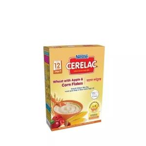 Nestle Cerelac 4 Wheat & Apple Corn Flakes (12 months +) BIB
