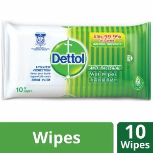 Dettol Anti Bacterial Wet Wipes 10 pcs Pack
