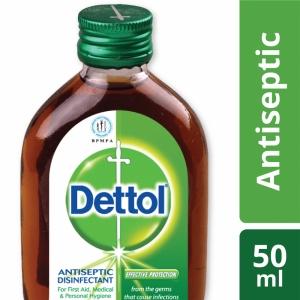 Dettol Antiseptic Liquid (Brown) Single Pack 50ml