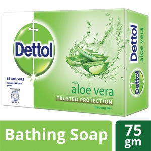 Dettol Soap Aloe Vera Bathing Bar Soap 75gm
