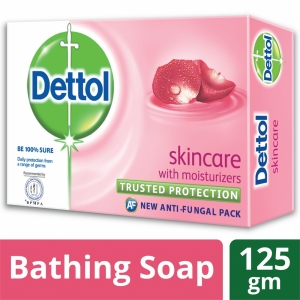 Dettol Soap Skincare Bathing Bar Soap 125gm